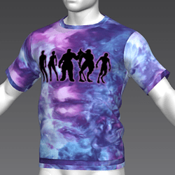 Ready Player One: Lineup T-Shirt (Tiedye) (M)