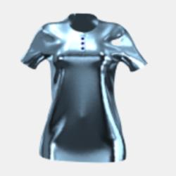Luxury Ice blue polo-shirt