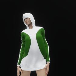Hoodie Dress Green (TM)