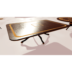 Rectangular Wooden Table With Inlays 01
