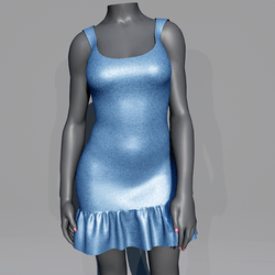Glitter Party Dress - Blue