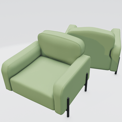 Hero Lounge Chair Green