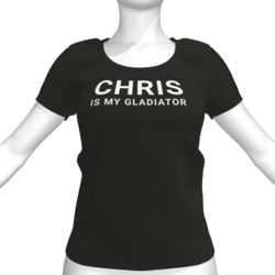 CHRIS IS MY GLADIATOR T-Shirt - Female