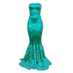Mermaid Dress AV2 aqua