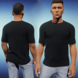 Mens One Pocket Tee - Black
