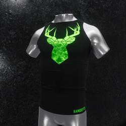 Sleeveless Shirt deer black green