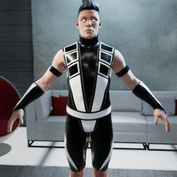 White and Black Ninja Bodysuit