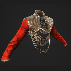Fashion Jacket - Red and Gold skin - female
