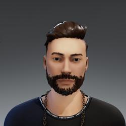 Beard Dark rigged