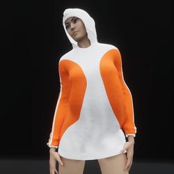 Hoodie Dress Orange (TM)