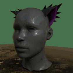 Neko Ears - Attachment - Black & Purple