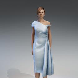 AV 2.0   Vintage elegant dress - blue