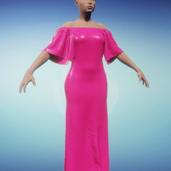 Masoom Low shoulder Gown Pink