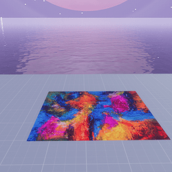 COLORFUL CANVAS FLOOR/PLATFORM