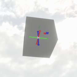 Transparent Cube with sit-points