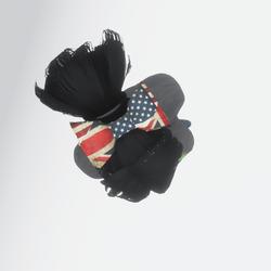 Rebel Flag Hair Bow