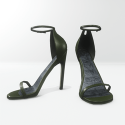 Ankle strap sandals for Nicci - leather chive green