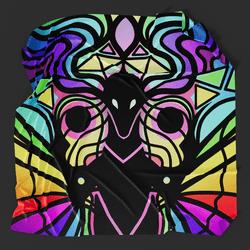 Stainglass Dragon Picnic Blanket