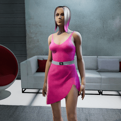 Dress Lara plastic pink