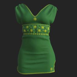 Kah dress green