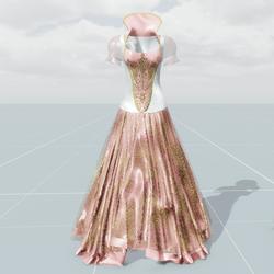 Queen's Dress (Pink White)