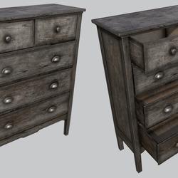 Old Wooden Dresser C