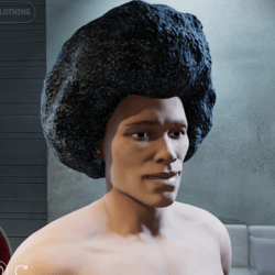 Afro Hair (Male) 70's Groove