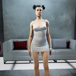 CLELIA strappy dress white
