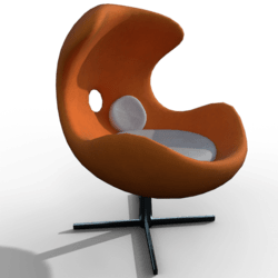 Lounge Chair retro orange