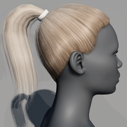 Hair - Pony Tail - Blonde Swidish