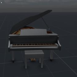 White Grand Piano 2 +
