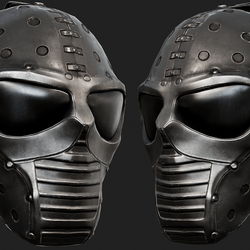 Black Steel Ballistic Mask