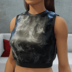 Sports Cropped Top Smoke with Black Trim
