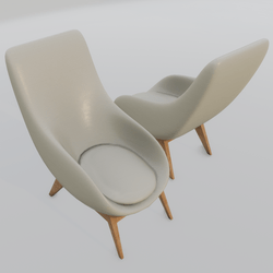 Oyster Lounge Chair White