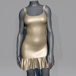 Glitter Party Dress - Champagne