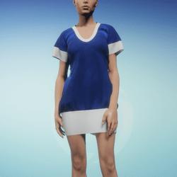 Bibi dress Blue and White