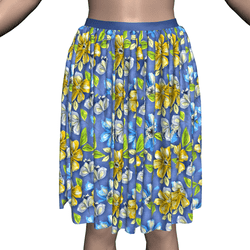 Marvelous Skirt with Floral Texture