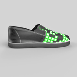 Slip-On Shoes Black Green Female