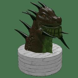 Drag head statue (colision)