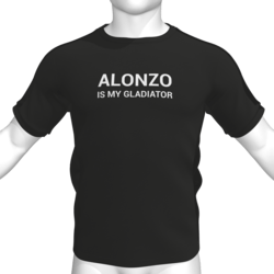 ALONZO IS MY GLADIATOR T-Shirt - Male