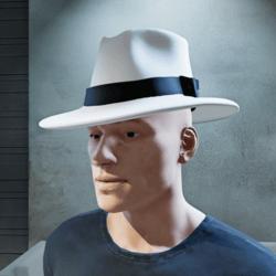 Stylish White Fedora Hat (Male)