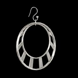 Crescent Earrings Silver