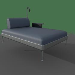 DELAKTIG Chaise w/ Table + Lamp