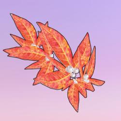 Golden Leaves One Side Right Orange