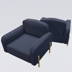 Hero Lounge Chair Blue