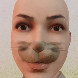 Rabbit nose easter moustache