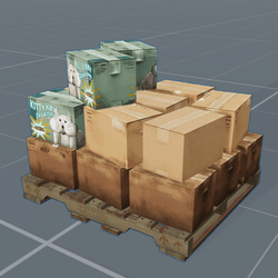 Bunch O' Boxes On A Pallet