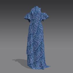 Cold Shoulder Adire Gown