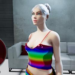 Female Cosmos Pride Top