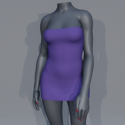 Very Short Sexy Mini Dress - Purple